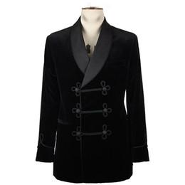 Chinese  Latest Coat Pant Designs Smoking Velvet Groom Tuxedo Jacket Black Men Suits Wedding Formal Groomsmen Mens Blazer Evening Party manufacturers