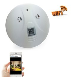 wireless motion detector security camera UK - 1080P WiFi Mini Camera Smoke Detector Nanny Wireless Cam With Motion Detection for Home Security & Surveillance for iOS Android Remote View