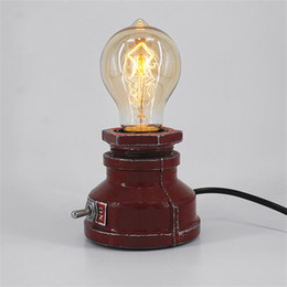 $enCountryForm.capitalKeyWord UK - Creative Retro American Country Dimmable Table Lamp AC 110V 220V For Dining Room Bedroom Bedside Cafe Coffee Shop Restaurant
