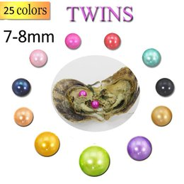 $enCountryForm.capitalKeyWord Australia - 2019 DIY Akoya High quality cheap love Seawater shell pearl oyster 7-8mm Twins pearl oyster with vacuum packaging Trend Gift Surprise