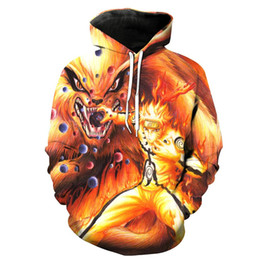 $enCountryForm.capitalKeyWord Australia - 2018 New Men Hooded Jacket Sweatshirt Fashion Cool Print Naruto Hoodie 3d Hoodie Hip Hop Harajuku Hooded Jacket