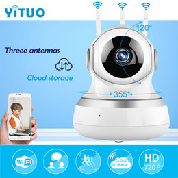 tilt monitor UK - IP wifi Surveillance Camera Onvif P2P wi-fi 720P Cloud Storage Wireless Home mini IP Baby Monitor Camera 10m Night Vision Ipcam YITUO
