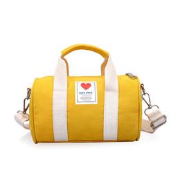 Cute Canvas Handbags Australia - New Children's Travel Bag Gym Bags Kids Gym Sports Handbag Shoulder Crossbody baby Cute Mini Messenger Princess Child Bucket Bag