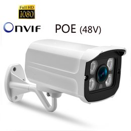 Cctv Camera Casing NZ - POE IP Camera Indoor Outddr Wired Network Home Security CCTV System Onvif 1080P 2M Metal Case Watreproof Bullet Video Surverillence Camera