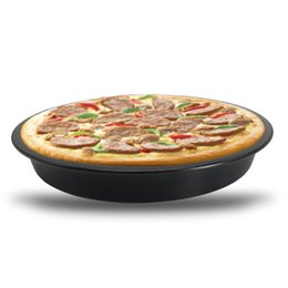 Wholesale Pizza Pans NZ - Baking Dishes Pizza Pans Bakeware Home Kitchen Rusty Iron Round Circular 9 Inch Wholesale