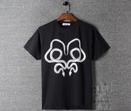 python shirt 2019 - New summer 2018 Europe contracted joker double python printed menswear round collar short sleeve T-shirt discount python