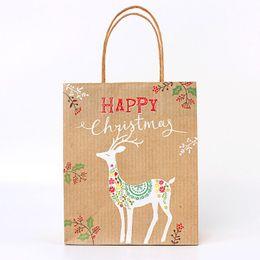 $enCountryForm.capitalKeyWord Australia - Creative Christmas Gift Packing Bags Eco-friendly Paper Bag Kraft Xmas Party Presents Package Wholesale Gift Bags