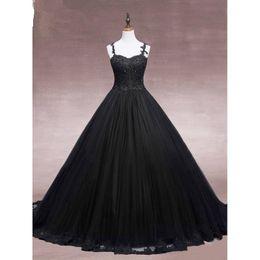 Опт Платья для выпускного вечера Сексуальный воротник в форме сердца, черный ремешок через плечо, платье с аппликацией, юбка, кружево, многослойная сетка, юбка, задний ремень, дешевая почта.