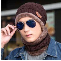 90a0605d06d0d New Fashion Hats Men Winter Wool Ski Hat scarf Set Head hooded Cap Earmuffs  Head Caps Male beanie mask gorro masculino