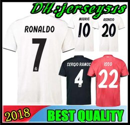 8bb7f814c 2019 Real Madrid soccer jersey Asensio SERGIO MODRIC RAMOS MARCELO BALE ISCO  Camiseta KROOS 18 19 football shirts Adults and kids