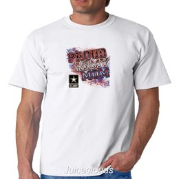 f7dec115 Proud Army Mom T-Shirt U.S Army Mother American Soldier Military Men's Tee