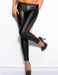 faux leggings NZ - T2366 Leggings leather with belt on the back novelty top seller leather pants perfect design best selling faux leather leggings