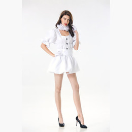 Wholesale movie costumes women online – ideas Hot Stephen IT Movie Pennywise The Clown Costume Horror Terror Dress Halloween Costume Cosplay Pennywise Clown Women