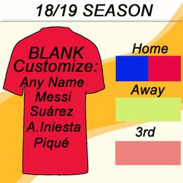 ed0c931115d5d 2018 19 barcelona MESSI SUAREZ Camisetas de fútbol COUTINHO PIQUE Home Away  Camisetas de fútbol para hombres 18 19 Club RAKITIC A.INIESTA Uniformes de  ...