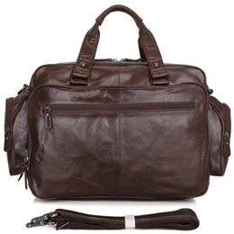 Travel lapTop cases online shopping - ANAPH Full Grain Leather Briefcases Men Business Big Travel Bag Attached Inch Laptop Case Classic Messenger Bags In Coffee
