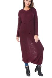 China Hollow Out Knitted Sexy Sweater Dress Backless Full Length Maxi Dresses For fashion Women Winter Casual Warm Long Dress suppliers