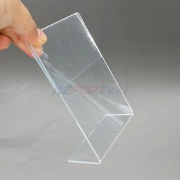 Desk Accessories & Organizer File Tray Clear Acrylic A4 T2mm Plastic Sign Display Paper Promotion Card Table Label Holder L Stand In Vertical 100pcs High Quality