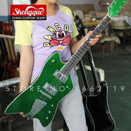Grover Guitar NZ - Free shipping factory custom Reverse FSR Billy-Bo Jupiter Grover green color 6 strings electric guitar gold hardwares musical instument shop