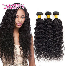 $enCountryForm.capitalKeyWord NZ - 3Pcs lot Water Wave Hair Curly Weave Remy Peruvian Virgin Hair Wet and Wavy Peruvian Human Hair Extensions 8-28inch Natural Color