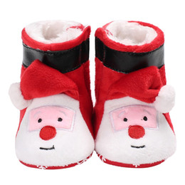 $enCountryForm.capitalKeyWord Australia - Infant Toddler Boy Girl Snowfield Newborn Christmas Booty Baby Winter Boots Super Warm Fashion Cute Cartoon Claus Baby Shoes S2