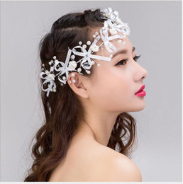 $enCountryForm.capitalKeyWord Australia - Korean handmade headwear ribbons, flower heads, pearls, short hair, wedding accessories, wedding dress accessories