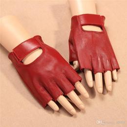 Leather Gloves For Men Australia - Creative Thin Sunscreen Pure Color Semi Finger Glove Outdoor Riding Bodybuilding Sport Gloves Women Men For Summer 31jy ff