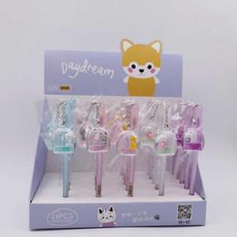 Pet stationery online shopping - 1 Cute Cartoon Cat Pet Transparent Pendant Gel Pen Signature Pen Escolar Papelaria School Office Supply Stationery Gift