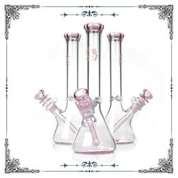 Glasses bonGs online shopping - pink glass bong hello kitty Beaker bottom borosilicate water pipes waterpipe heady hookahs Straight Tube smoking
