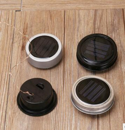 Rubber Include Canada - Color changing Silver Solar-powered Mason Jar Lids light up any mason jar (not include jar) DHL Fedex Free shipping
