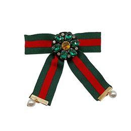 $enCountryForm.capitalKeyWord Australia - Women Fashion Handmade Satin Ribbon Bow Tie Necktie Bowknot Shirt Tie Clips Pink Brooch Pin Shirt Collar Dragonfly Jewelry