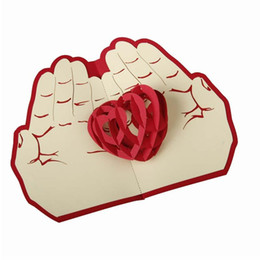 $enCountryForm.capitalKeyWord UK - Valentine day christmas card red heart pop up card 3D handmade greeting cards christmas gift A15