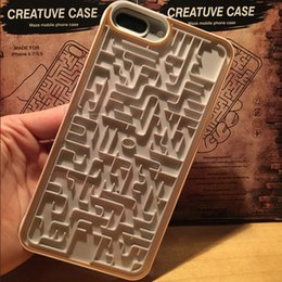 $enCountryForm.capitalKeyWord NZ - Interactive Red Yellow Labyrinth Phone Case For iPhone 6 6s 7 8 Relax PC Maze Map Game Cover For iPhone 6 6s 7 8 Plus