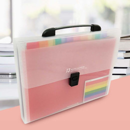 expanding folders 2019 - Hot 13 Pockets Expanding Files Folder A4 Expandable File organize Portable Accordion File Folder Office Document Briefca