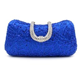 $enCountryForm.capitalKeyWord Canada - New Bling Women Evening Bag royal blue Color Clutch Box Bags Women Handbag Shoulder Bag Cross-body Bags