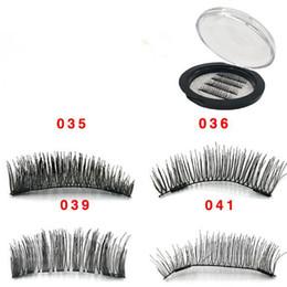 Chinese  4pcs set 3D Double Magnet False Eyelashes 2 Magnets Magnetic Fake Eye lashes Thick Long Sexy Eyelash Extension CCA9518 50set manufacturers