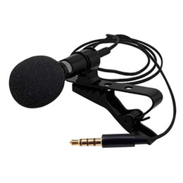 High Quality Computer Mic UK - High Quality Lavalier Mini Microphone Computer Network Omnidirectional Recording Mic Wired Capacitance Phone Microphone Mic