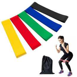 Band Belts UK - Yoga Resistance Band 5 pieces lot Fitness Strength Training Resistance Band Fitness Equipment Sports Yoga Belt Toys