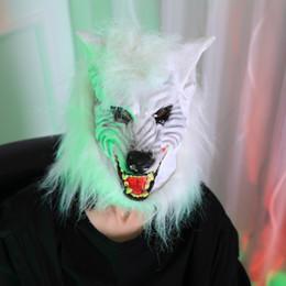 $enCountryForm.capitalKeyWord Canada - Halloween Horror Devil Masquerade Props Mask Bar Costume Accessories Scary Cosplay Full Head Party Wolf Headgear