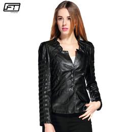 $enCountryForm.capitalKeyWord NZ - Fitaylor 2018 Spring Autumn Motorcycle Black Faux Leather Jacket Women Plus Size Female Bomber Moto Biker Ladies Leather Jackets