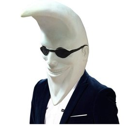 Chinese  Mcdonald Moon Men Latex Mask Full Head Halloween Banana People Rubber Mask Party Holiday Comedy Masquerade Party Cosplay Props manufacturers