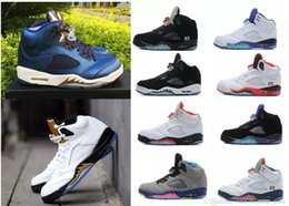 $enCountryForm.capitalKeyWord NZ - Cheap 5 V Olympic Bronze Coin Blue metallic Gold OG black 5s Metallic white Grape Oreo Basketball Shoes Sneakers Green Bean Shoe