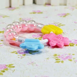 Baby Rattles Australia - Cute 0-12 Months Baby Rattles Toys Training Baby Silicone Teething Toys Bell Rattle Education Doll for Kids Children Gift
