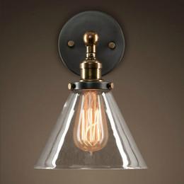 $enCountryForm.capitalKeyWord UK - Loft Industrial Wall Lamps Vintage Bedside Wall Light Clear Glass Lampshade E27 Edison Bulbs 110V 220V