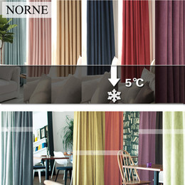 $enCountryForm.capitalKeyWord Canada - NORNE New Fabric Solid Color Linen Like Blackout Curtains for Living Room Modern Bedroom Window Curtain kitchen Curtains Blinds