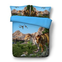 cotton printed christmas bedding set 2020 - 3D Christmas Duvet Cover Animal Dinosaur Bedding Sets Bedspreads Holiday Quilt Covers Bed Linen Pillow Covers Elk Snowma