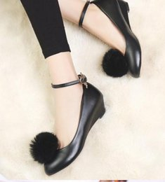 $enCountryForm.capitalKeyWord NZ - Free send 2018 new style Korean women's Single shoes hair ball sweet princess shoes