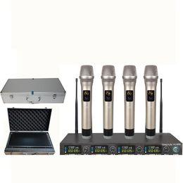$enCountryForm.capitalKeyWord NZ - ATD UG-4020 New 4x100 Channel UHF Wireless Handheld Head mic Microphone System Conference mic +BOX