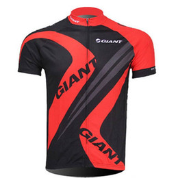 Giant Road Cycles NZ - Men GIANT Cycling Short Sleeve Jersey Pro Fit Road Bike Tops MTB Short Sleeve shirts Breathable quick dry outdoor sportswear 122907Y