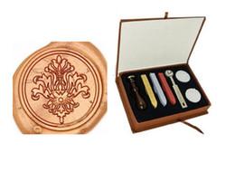 Wood Stamp Kit Australia - Vintgae Victoria Filigree decor Wax Seal Stamp Kit Gift Box Set for Wedding Invitation 20style for choice