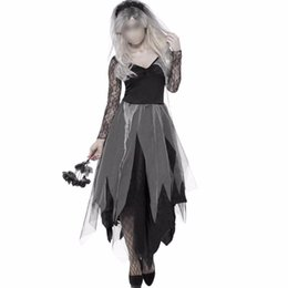 Discount scary woman costumes - Halloween Dress Ghost Costumes Women Scary Clothes Saints' Day Fantasia Dress Witch Costume Skeleton Festival Cospl